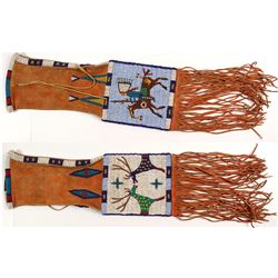 Buckskin Plains Indian Beaded Pipe Bag