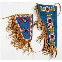 A Pair of American Indian Beaded Holsters