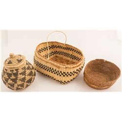 Three Native Baskets