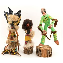 "Six Folk Art ""Kachinas"""
