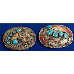 Native American Silver/Turquoise Belt Buckles
