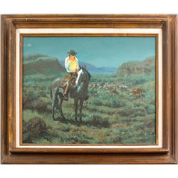 Painting of Cowboy by John T. Jones