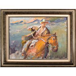 Cowboy on Horse, N. Mikhailenko