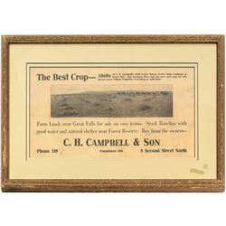C.H. Campbell & Son Sand Coulee Ranch Broadside