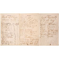 Buffalo Bill Show Worker Diary Pages, 1874