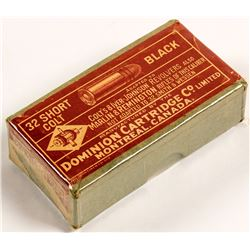 .32 Short Colt Black powder cartridges made by Dominion Cart.