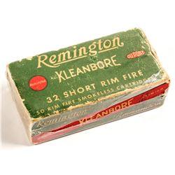 Remington Kleanbore .32 short rim fire cartridges