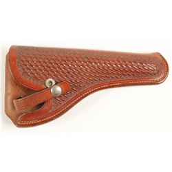 Leather Basket weave holster for revolver