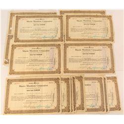 25 Maxim Munitions Corporation Stock Certificates