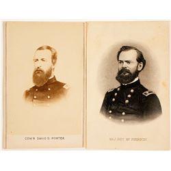 CDVs of Union Civil War Commodore & Major