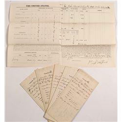 Ohio, Michigan, & Minnesota Civil War Union Pay Vouchers