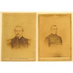 CDV Photo's (2) of Civil War Generals