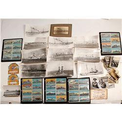 US Military Ship Ephemera Collection