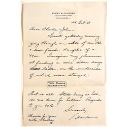 Letter from Henry H. Clifford  Re: Coin Silver Soup Ladle