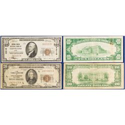 Two National Bank Currency Notes