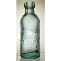 Joseph Beaman Soda Bottle, Central City, Colorado