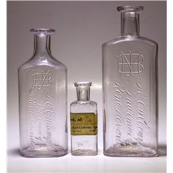 McCullough Medicine Bottles, 3 Different, Reno, Nevada