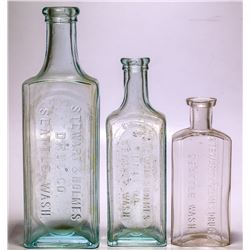 Stewart & Holmes Medicine Bottles (3 Different), Seattle, Washington