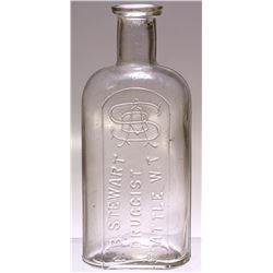 A. B. Stewart, Seattle, Washington Territory Drug Bottle