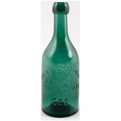 H. Umbach & Co. Pictorial Soda Bottle, Savannah