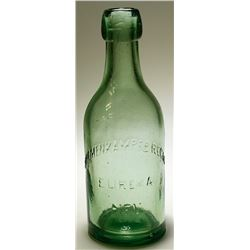 Bremenkampf & Regli Soda Bottle, Eureka, Nevada, Light Green