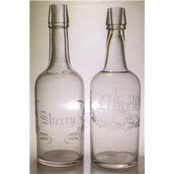 Pair of Back Bar Bottles