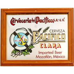 Pacifico Mirrored Bar Sign