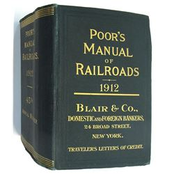 Poor's Manual of Railroads 1912