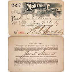 Montana Union Railway Pass