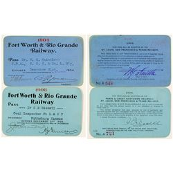Fort Worth & Rio Grande Railway Annual Passes (1904 & 1908)