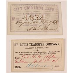 2 19th Century Railroad Passes