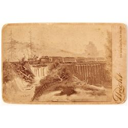 Cabinet Card of Painting of Santa Cruz Train Wreck