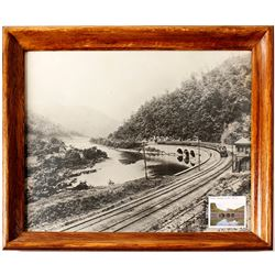 Baltimore & Ohio Railroad Framed Publicity Photograph. Indian Creek, PA