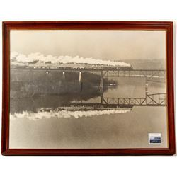 Baltimore & Ohio Railroad Framed Publicity Photograph. Perryville, MD