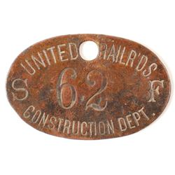 United Railroads Brass Check