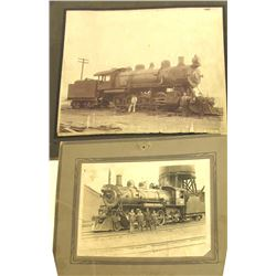 Two Montana Railroad Mounted Photographs