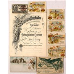 Columbian Exposition Ephemera