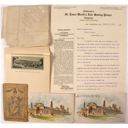 St. Louis Exposition Ephemera (Assorted, 6 items)
