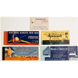 New York Worlds Fair Ticket Books