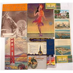 Golden Gate Exposition Ephemera