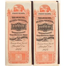 Duluth, Huron & Denver Rail Bonds (2)