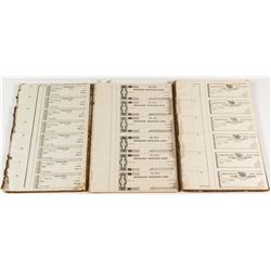 Unissued Check Pages and Books Collection, c.1830s