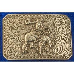 Rodeo Bucking Bronco Cowboy Belt Buckle