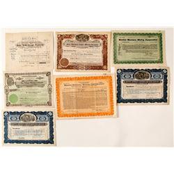 Seven Butte Mining Stock Certificates