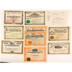 Montana Mining Stock Certificate Collection (10)