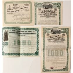 Montana Oil, Coal, & Power Bonds & a Stock Certificate