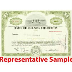 Custer Channel Wing Corporation Stock Certificates