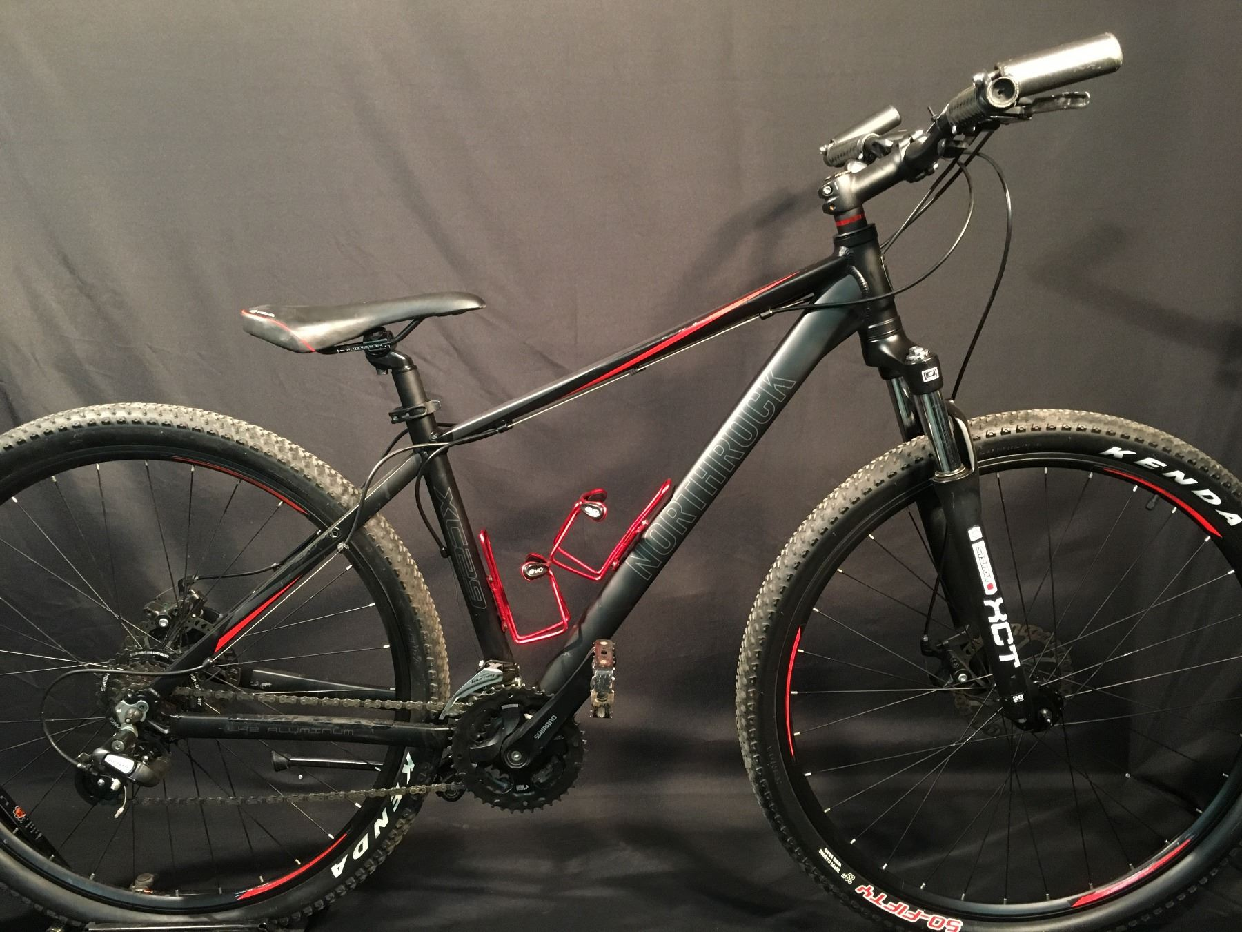 Black Northrock Xc29 21 Speed Front Suspension Mountain Bike With