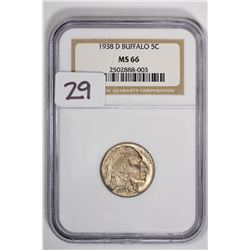 1938-D 5C Buffalo Nickel