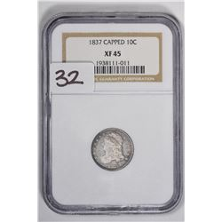 1837 10C Capped Bust Dime
